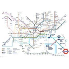 Londyn Metro Underground Map - plakat