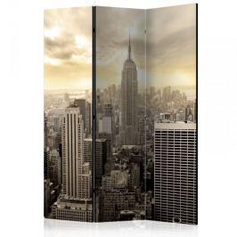Parawan 3-częściowy - Światło Nowego Jorku [Room Dividers]