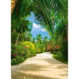 Tropikalny ogród botaniczny - fototapeta
