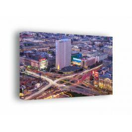 Warszawa Centrum - obraz na płótnie