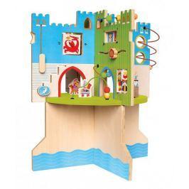 Kostka edukacyjna w kształcie zamku Rycerska forteca Manhattan Toy