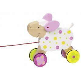 Drewniana zabawka do ciągnięcia na sznurku, owca Suse