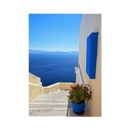 Grecja. Santorini. - plakat premium