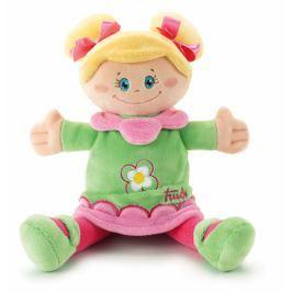 Lalka, przytulanka w zielonej sukience