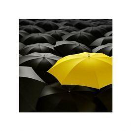 Żółta parasolka - plakat premium