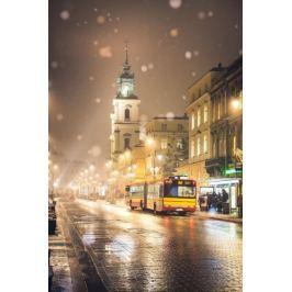 Warszawa Krakowskie Przedmieście - plakat premium