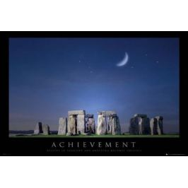 Osiągnięcia - Stonehenge - plakat motywacyjny
