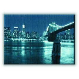 Nowy Jork. Manhattan and Brooklyn Bridge - Obraz na płótnie