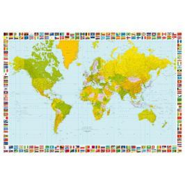 Fototapeta Polityczna Mapa Świata