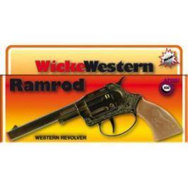 Pistolet NA SPŁONKĘ rewolwer na kapiszony na tasmie metalowy Ramrod