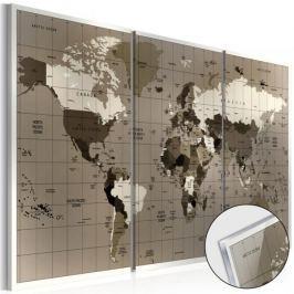 Obraz na szkle akrylowym - Brązowa geografia [Glass]