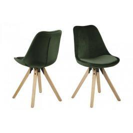 Krzesło Dima VIC forest green/wood