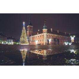 Warszawa Zamek Królewski Zimowy Plac Zamkowy - plakat premium