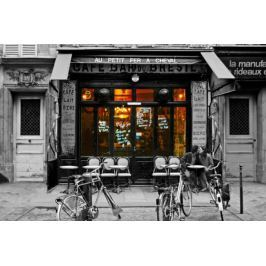 Kawiarnia w Paryżu - Cafe Bar Du-Bresil - plakat Fototapety