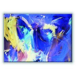Niebieska abstrakcja - Obraz na płótnie Fototapety