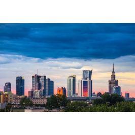 Warszawa Panorama - plakat premium Fototapety
