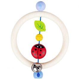 Drewniana grzechotka, biedronka na listku Pozostałe zabawki dla niemowląt