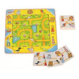 Puzzle i gra, znajdź drogę z Peggy Diggledey