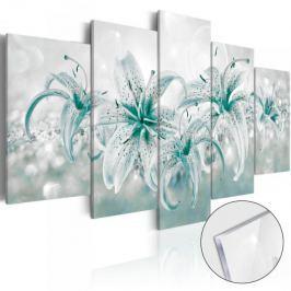 Obraz na szkle akrylowym - Szafirowe lilie [Glass] Fototapety