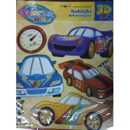 Naklejki piankowe Samochody Wyścigowe Dziecięce akcesoria dekoracyjne