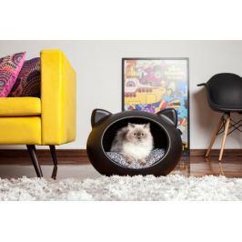 Guisa posłanie dla kota czarne 44x51x35 cm poduszka w kwiaty