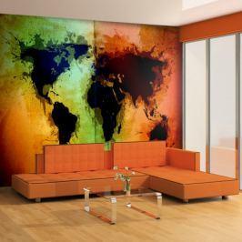Fototapeta - Czarne kontynenty, kolorowe oceany... Fototapety