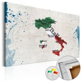 Obraz na korku - Włochy [Mapa korkowa] Fototapety