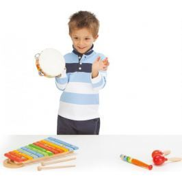 Kolorowy, drewniany ksylofon ze zwierzaczkami Zabawki muzyczne