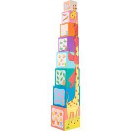 Układanka z kolorowych klocków. Pudełkowa wieża Small Foot Pozostałe zabawki edukacyjne
