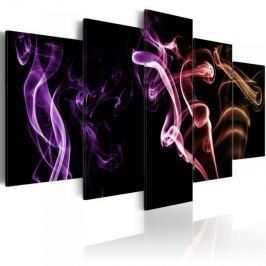 Obraz - Barwny dym - 5 części Fototapety