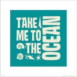 Bathroom Ocean - plakat premium Fototapety