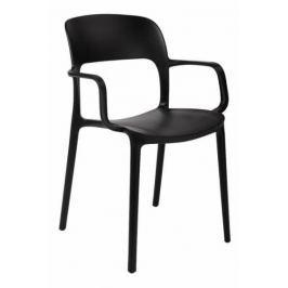 Krzesło z podłokietnikami Flexi czarne Zestawy mebli