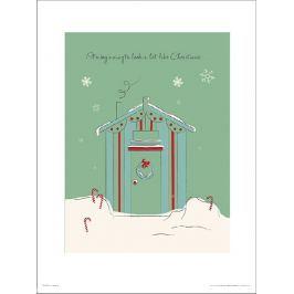 Christmas Hut Green - plakat premium Fototapety