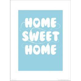 Home Sweet Home Blue - plakat premium Fototapety