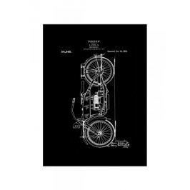 Motocykl Projekt 1919 - retro plakat Fototapety