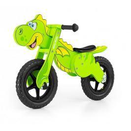 ROWEREK BIEGOWY DREWNIANY DINO GREEN #B1 Rowerki i inne pojazdy dla dzieci