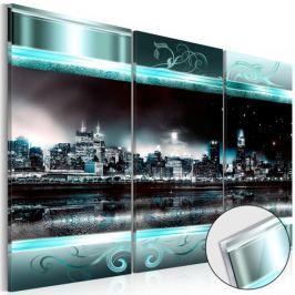 Obraz na szkle akrylowym - Szafirowe miasto [Glass]