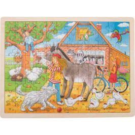 Drewniane puzzle Peggy Diggledey na farmie