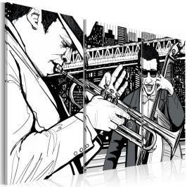Obraz - Koncert jazzowy na tle nowojorskich wieżowców Fototapety
