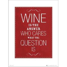 Wine Answer - plakat premium Fototapety