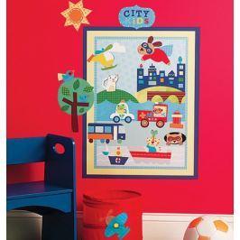 Naklejki City Kids stwórz własne miasto Dziecięce akcesoria dekoracyjne