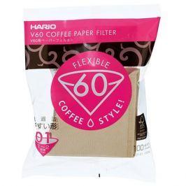 Hario filtry papierowe Misarashi brązowe - V60-01 - 100 Sztuk Inne akcesoria do kawy i herbaty