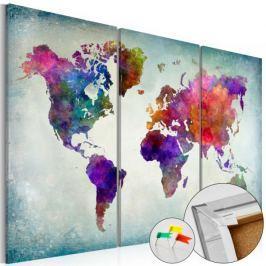 Obraz na korku - Świat w kolorach [Mapa korkowa] Fototapety