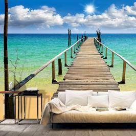 Fototapeta - Plaża, słońce, pomost Fototapety