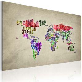 Obraz - Mapa świata - nazwy państw w języku angielskim Fototapety