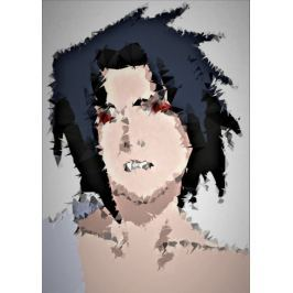POLYamory - Sasuke, Naruto - plakat Fototapety