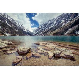 Gaube Lake Francja piereneje - plakat premium Fototapety