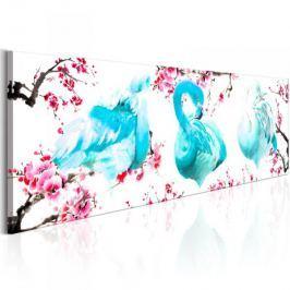 Obraz - Flamingi wśród drzew Fototapety