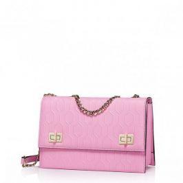 Geometryczna damska torebka z łańcuszkiem Różowa Torebki damskie