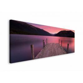 Pomost Zachód Słońca - obraz na płótnie Fototapety